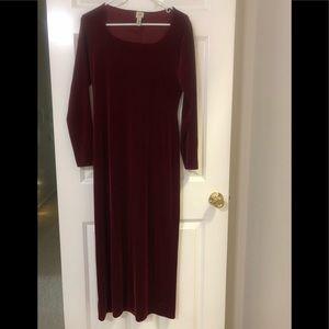 Long velvet body dress